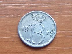 BELGIUM BELGIE 25 CENTIMES 1969
