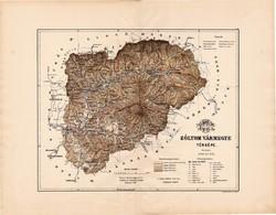 Zólyom vármegye térkép 1889 (2), megye, atlasz, Kogutowicz Manó, 44 x 56 cm, Gönczy Pál