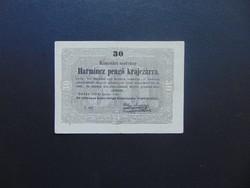 30 krajcár 1849 Kossuth bankó Szép bankjegy !  03