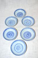 6 db rizsmintás kis tálka  ( DBZ 0018 )