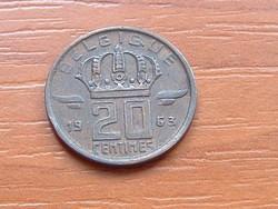 BELGIUM BELGIQUE 20 CENTIMES 1963  BÁNYÁSZ