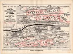 A magyar (1848 - 1849) szabadságharcz synchronistikai térképe, térkép 1885, 1879, Rakssányi Gyula