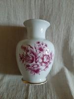 Hollóházi hibátlan Erika mintás 15.5 cm váza