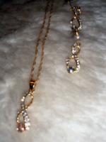 Új Gold Filled Nyaklánc Fülbevalóval + Gyűrű!