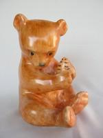 Bodrogkeresztúri kerámia lépesmézet majszoló maci mackó