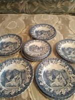 Angol régi szép kék angol sorozat tányér