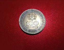 Portugál - 100 escudos - 1990 - Bimetál