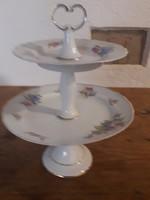 Hollóházi emeletes porcelán  asztalközép