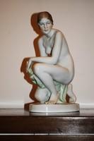 Herendi porcelán - Női Akt , - jelzett, hibátlan. 35 cm
