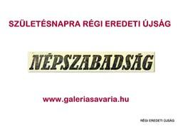 1969 június 6  /  NÉPSZABADSÁG  /  Régi ÚJSÁGOK KÉPREGÉNYEK MAGAZINOK Szs.:  8859