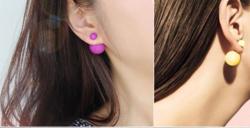 Dupla gömbös fülbevaló 3 színben