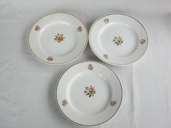 Gránit kerámia rózsás tányér 3 db
