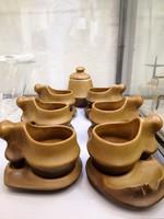 Faianta Sighisoara kerámia kávéskészlet
