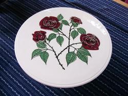 A0 Rózsás tortatál, süteményes tálca, kínáló