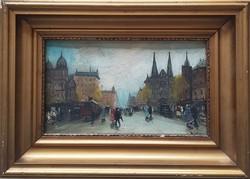 Berkes Antal (1874-1938) Városi forgatag