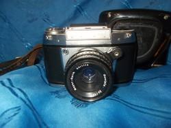 Régi exa német tükörreflexes filmes fényképezőgép