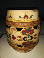 ANTIK  porcelán-hordó alakú(Zsolnay szerű)