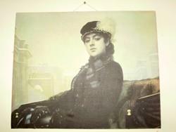 Ivan Nyikolajevics Kramszkoj Ismeretlen nő portréja festményéről készült nyomat
