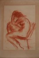 Ismeretlen művész: Ülő akt