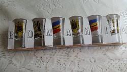 Retro Románia feliratú kis poharak eredeti csomagolásban eladó!