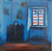 Bozsó János: Délután c. festménye után - ismeretlen festő másolata fémlapra