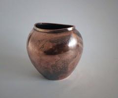 Ritka WMF Ikora art-deco/bauhaus bronz/réz váza, kb.1930