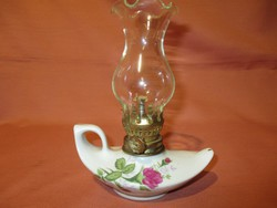 Rózsás kis petróleum lámpa, működőképes