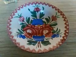 Antik porcelán dísz tányér