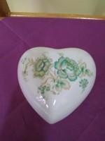 Zsolnay porcelán szív bombonier.