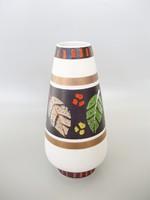 Retro,vintage,levélmintás kerámia váza