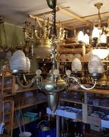 Restaurált antik szecessziós csillár a restaurátortól