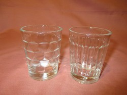2 db retro kis üveg pohár