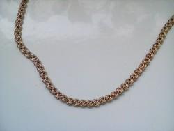 Aranyozott ezüst rózsalánc(17 gr.)