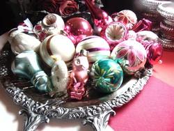 Régi antik üveg karácsonyfadíszek