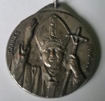 II.János Pál Joannes Paul II. ezüstözött emlékérem mérete:36mm hátoldal Vatikán Roma Italy