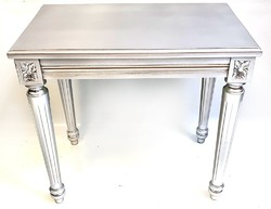 XVI. Lajos stílusú krómezüst lerakó asztalka