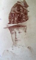 Stefánia belga királyi hercegnő EREDETI JELZETT FOTÓ 1892 RUDOLF HABSBURG KUK KORONA HERCEG HITVESE
