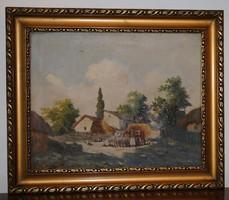 Németh György (1888 - 1962) olajfestménye, vászon, 51 x 61 cm, eredeti, szignált!