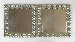 0X150 Régi szögletes alakú kínáló tálcapár 17x17cm