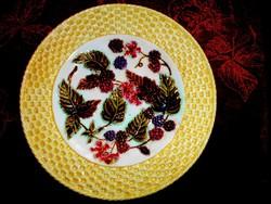 Szecessziós Városlődi? majolika tányér