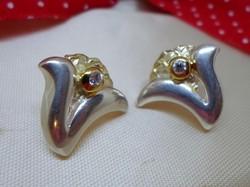 Gyönyörű design ezüst fülbevaló arany - ezüst