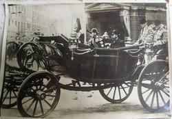 X. Keresztély dán király és V. György brit király EREDETI JELZETT SAJTÓ FOTÓ LONDON