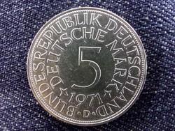 Németország, ezüst (.625) 5 Márka 1971 (id9538)