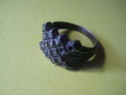 Antik Gyűrű  , valószínű ezüst  , két db citrin  hiányzik belőle