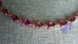 Rózsaszín turmalin 925 karkötő
