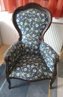 Neobarokk stílusú karosszék, fotel