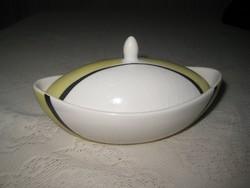 Retró ,  csónak  alakú   tálka , fedővel  16 cm