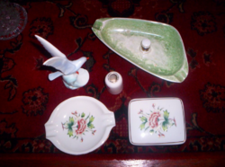 6 db Hollóházi porcelán  X