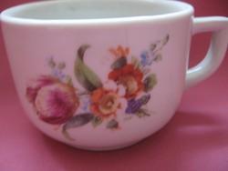 Antik Schlaggenwald tulipános, ibolyás csésze