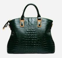 Zöld  táska, válltáska,  valódi bőr, új